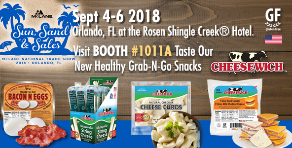 anouncement for Cheese attendance at McLane National Food Show Sep-4th-Sept 6th in Orlando