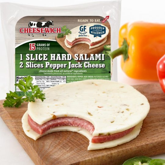 Pepper Jack and Salami Cheesewich™ 15g of protein, Gluten Free, Keto Snack