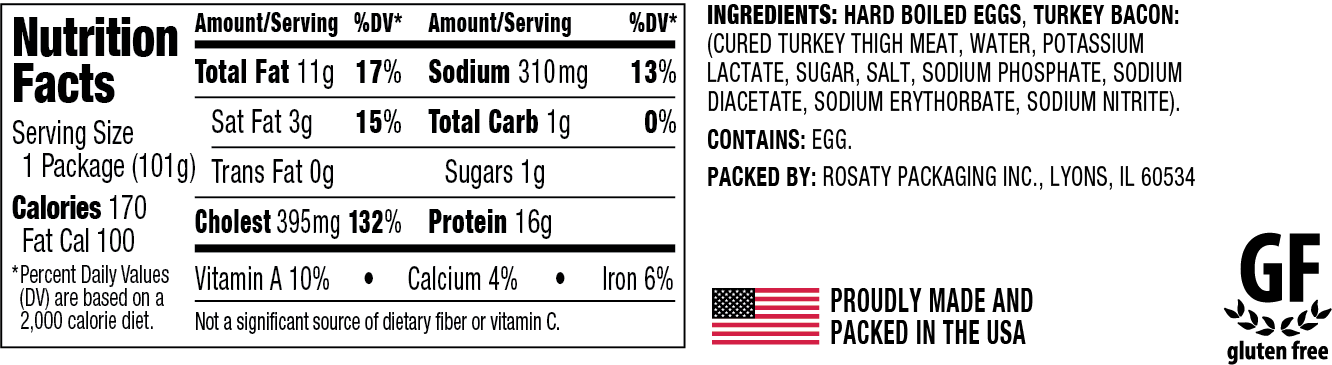 Bacon N Eggs Nutrition and ingredients information