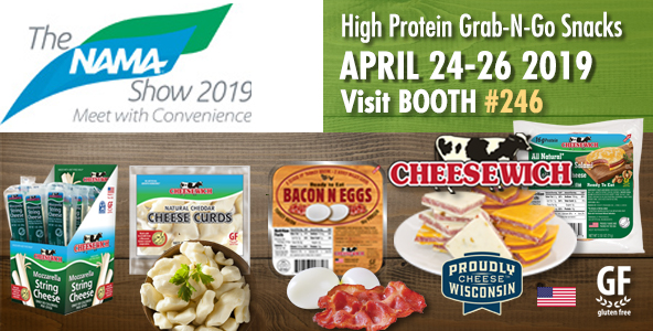 NAMA 2019 April 24-26 | Cheesewich Factory Booth 246