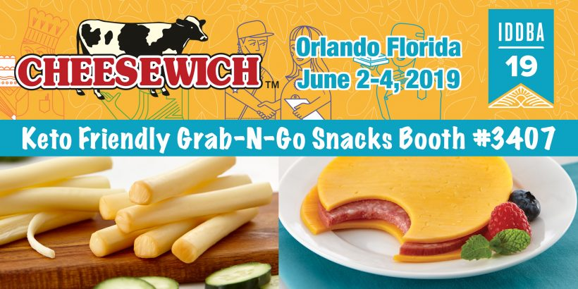 June 2-4, 2019 Visit Booth #3407 to Taste Award Winning Cheese and Salami Grab-N-Go Snacks