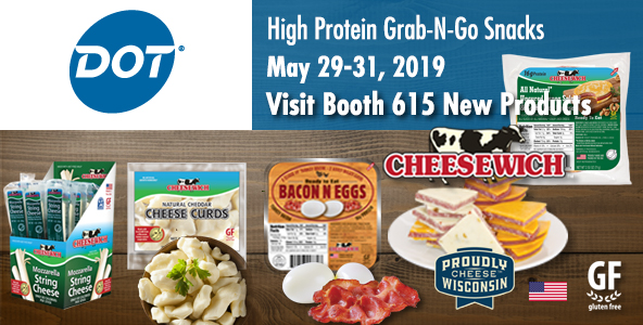DOT Foods Innovations 2019 St. Louis | May 29-31 Cheesewich™ tastings at Booth #615