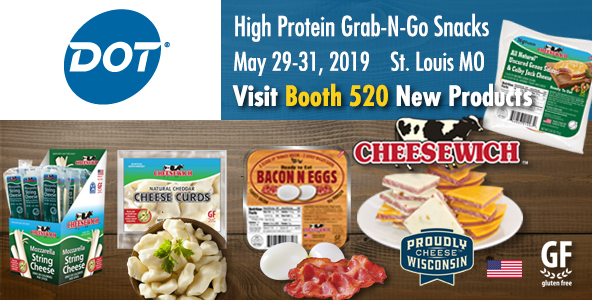 DOT Foods Innovations 2019 St. Louis | May 29-31 Cheesewich™ tastings at Booth #520